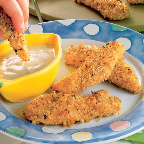 Crispy Parmesan Chicken Strips Recipes Pampered Chef Us Site