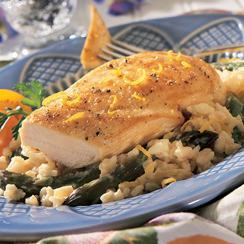 Chicken & Asparagus Risotto Skillet - Recipes | Pampered Chef US Site