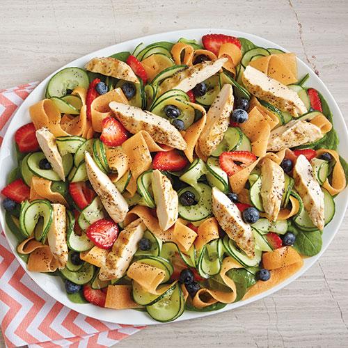 Ribboned Melon & Chicken Salad - Recipes