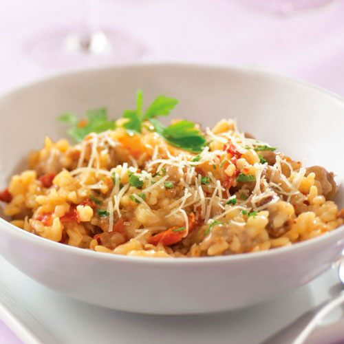 Sun-Dried Tomato & Sausage Risotto