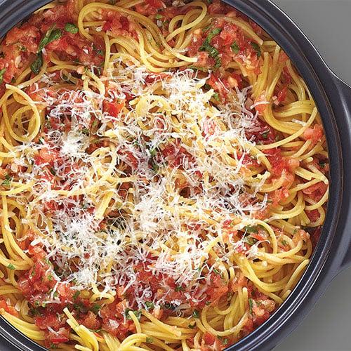 Stovetop Savior: Bruschetta Spaghetti Recipe – A 10-minute ...   Bruschetta And Spaghetti