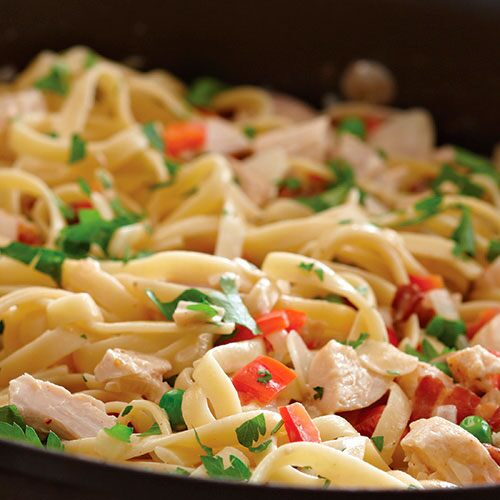 Smoky Chicken Fettuccini
