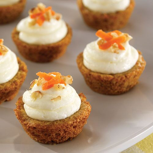 Mini Cake Recipes With Pictures : Mini Carrot Cake Cups - Recipes Pampered Chef US Site