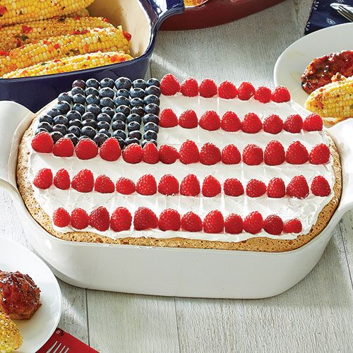 Angel Food Flag Cake Recipes — Dishmaps