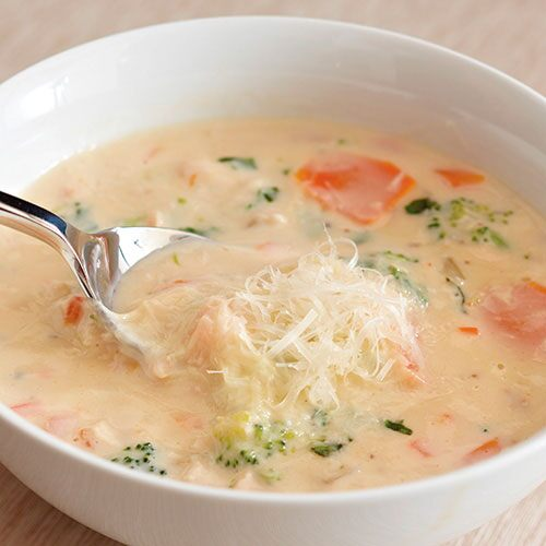 Chicken Vegetable Alfredo Soup