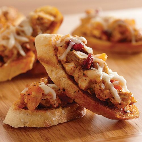 Moroccan Chicken Crostini Melts