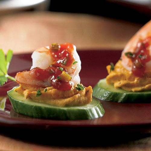 Creole Shrimp & Cucumber Canapes