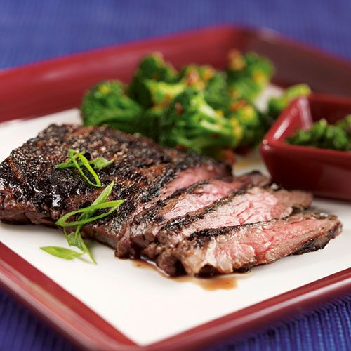 Steak with Fiery Arbol Broccoli