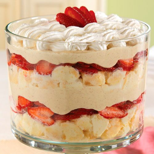 Trifle With Yellow Cake And Chocolate Pudding