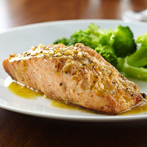 Glazed Peppercorn Salmon
