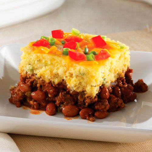 Image result for Cornbread Chili & Cheese Bakes