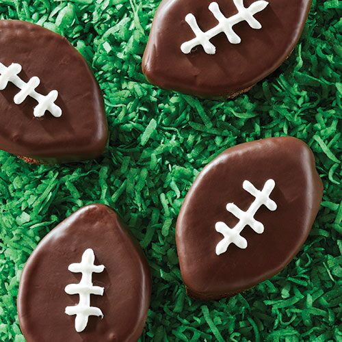 Double Chocolate Brownie Footballs