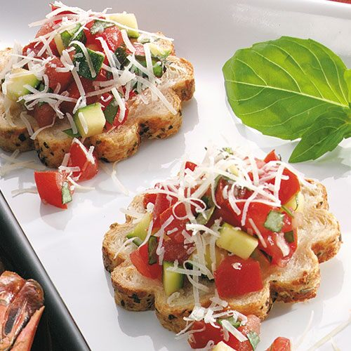 Savory canap french bread recipes pampered chef us site for What is a canape appetizer