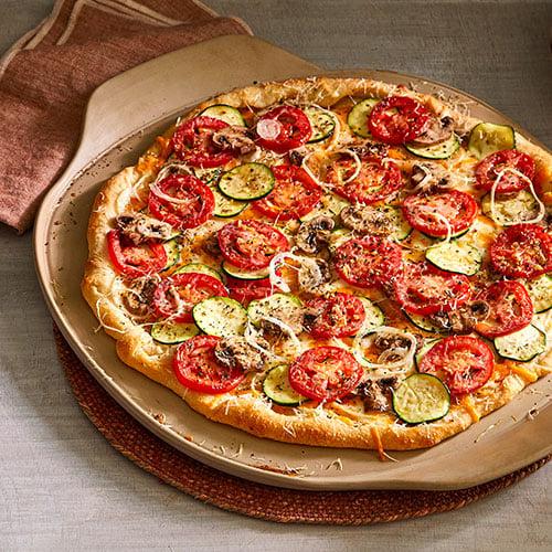 Chef Garden: Three-Cheese Garden Pizza - Recipes