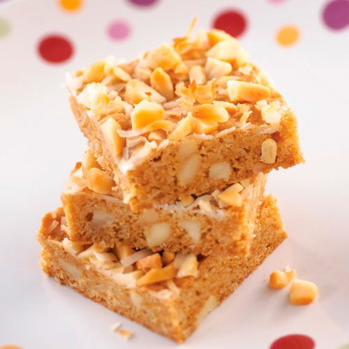 Macadamia-Coconut Blondies