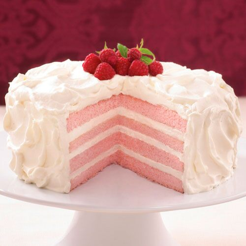 Raspberry Champagne Cream Cake Recipes Pampered Chef Us Site