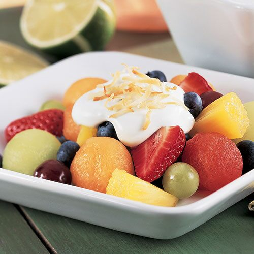 Fruit Salad with Cool Lime Dressing