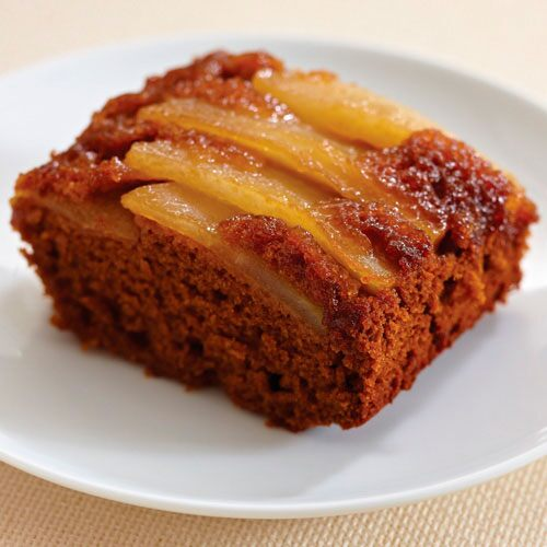 Pear Ginger Upside-Down Cake