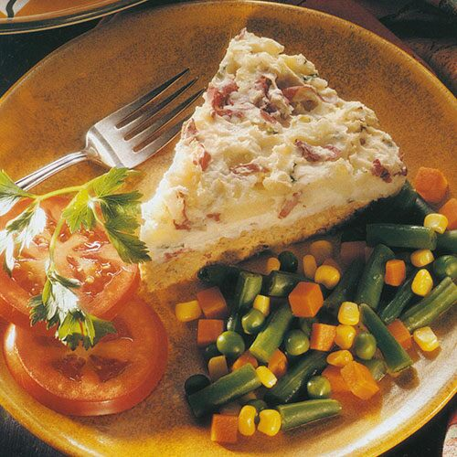 Turkey Loaf With Garlic Mashed Potatoes