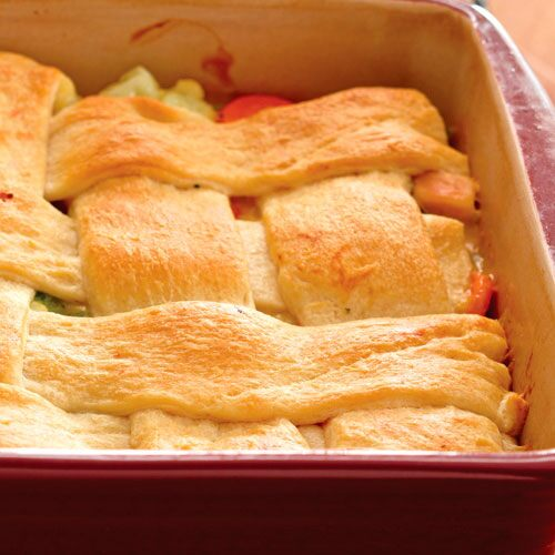 Lattice-Topped Chicken Bake