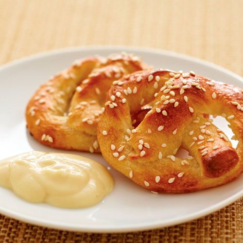 Mini Soft Pretzels With Honey-Mustard Dip - Recipes   Pampered Chef US ...