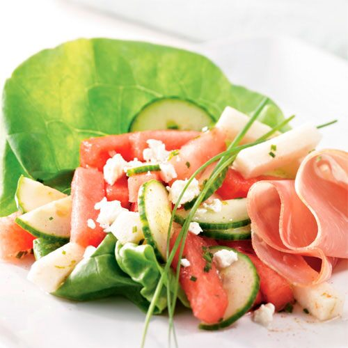 Watermelon & Prosciutto Salad
