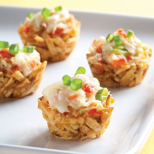 Creamy Crab-Filled Potato Nests