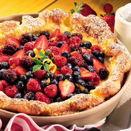 send to a friend berry pancake puff an oven baked pancake gets its ...