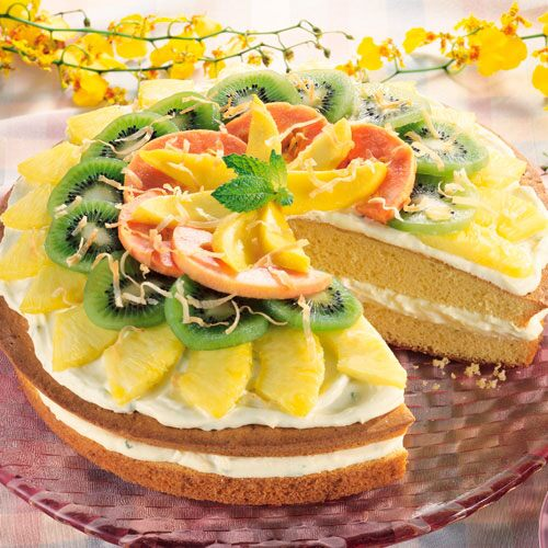 Cool Lime Colada Cake