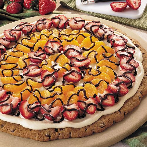 Fruit Topped Triple Chocolate Pizza Recipes Pampered Chef Us Site