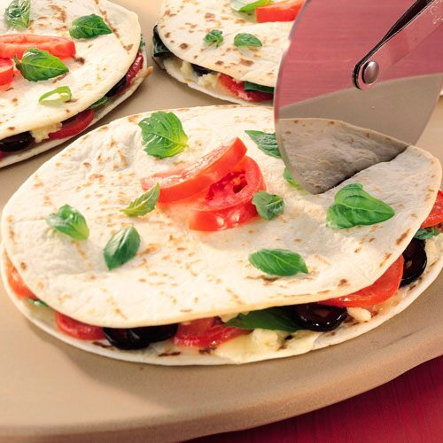 Mediterranean Cheese Quesadillas
