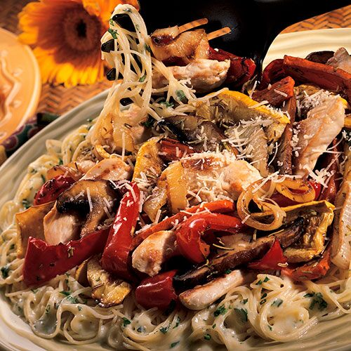 Angel Hair Pasta With Grilled Vegetables