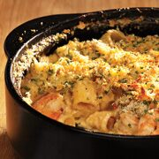 Baked Mac 'N Cheese with Shrimp