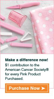 Make a difference now! $1 contribution to the American Cancer Society® for every Pink Product Purchased.